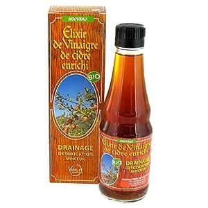Vibior - Elixir de vinaigre de cidre enrichi bio - flacon 250 ml - Drainage, détoxication, pour une