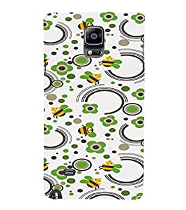 PrintVisa Honey Bee Pattern 3D Hard Polycarbonate Designer Back Case Cover for Samsung Galaxy Note 4