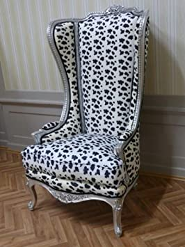 Sillón trono barroco Armlehner silla estilo envejecido sillones suntuosos AlCh0331SiTi