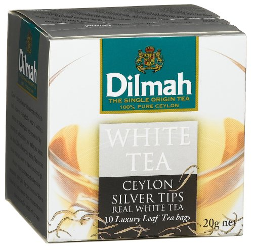 Buy Dilmah White Tea - 10 Luxury Leaf Bags, 0.7-Ounce Boxes (Pack of 2) (Dilmah, Health & Personal Care, Products, Food & Snacks, Beverages, Tea, White Teas)