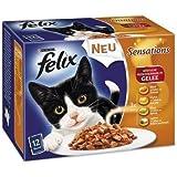 Felix Sensations Fleisch Mix 12x100g Katzenfutter von Purina