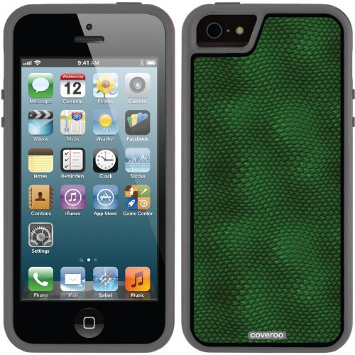 Best Price Snake Green design on a Black iPhone 5s / 5 Guardian / Ruggedized Case by Coveroo