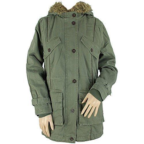 Bellfield - B Soltsy delle donne cachi foderato di pelliccia parka Taglia UK 10 EUR 38 USA 6