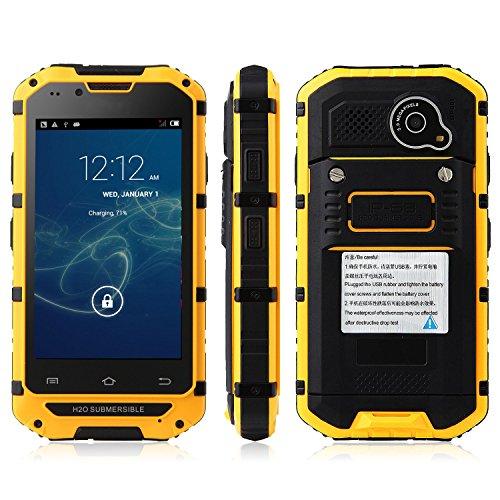 Tengda V6 Smartphone Ip68 Android 4.2 Mtk6572 4.0 Inch Wifi Yellow