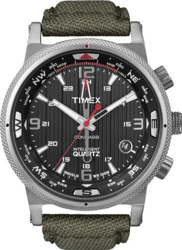 Timex Men's Expedition E-Compass Watch T49819SU With Green Strap