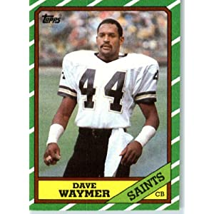 1986 topps 347 dave waymer new orleans saints football