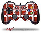 Squared Red Dark - Decal Style Skin fits Logitech F310 Gamepad Controller (CONTROLLER SOLD SEPARATELY)