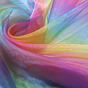 Rainbow Organza (Voile) Fabric (Per Metre) from Nortex Mill