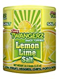 Twangerz Seasoning Salt Blend for Foods and Snacks - Four Flavors Including Lemon Lime, Lime, Pickle and Chili Lime - Convenient 1.15 Ounces Shakers to Sprinkle on Fruit, Veggies, Chips, Popcorn, Meat and Seafood for a Zesty Treat (4 Shakers 1 of Each Flavor)