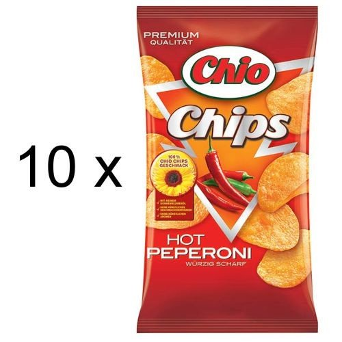 Chio Chips Hot Peperoni (10x 175g Tüten)