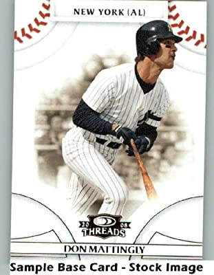 Don Mattingly - New York Yankees - 2008 Donruss Threads - MLB Baseball Trading Card
