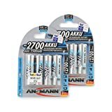 ANSMANN Mignon AA Akku Typ 2700mAh NiMH hochkapazitiv Profi Digital Kamera-Akkubatterie (8er Pack)