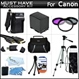 Must Have Accessory Kit For Canon VIXIA HF M41, M40, M400 HD Camcorder Includes Extended (2100Mah) Replacement BP-819 Battery + Ac/Dc Travel Charger + Deluxe Case + Mini HDMI Cable + 50