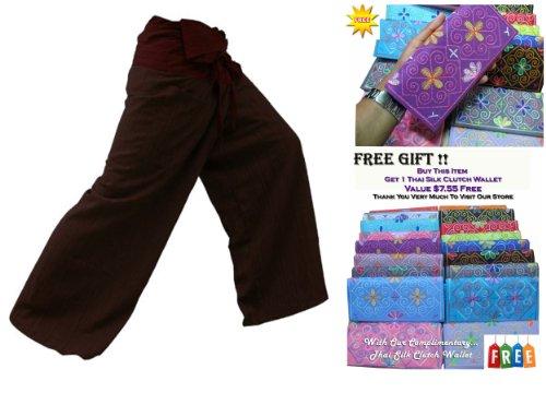ST **, cotone a righe bicolore e Pantaloni Thai Fisherman per Yoga, taglia vendere su ****Con complementari