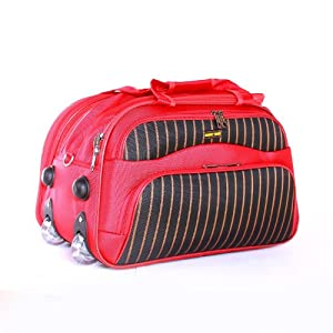 Wheely Bag Holdall - Luggage / Travel Bag - Red - Large