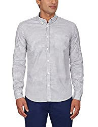 GAS Men's Casual Shirt (8059890952755_83609_Small_1-White)