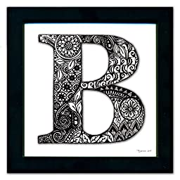 B Monogram Pen & Ink