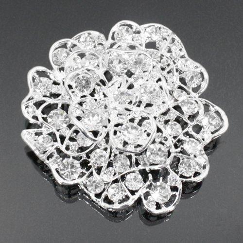Flower Filigree Crystal Fashion Brooch Bh6179-bc170