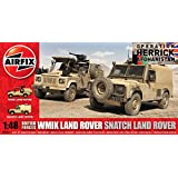 Airfix A06301 British Forces Land Rover Twin Pack Model Building Kit, 1:48 Scale