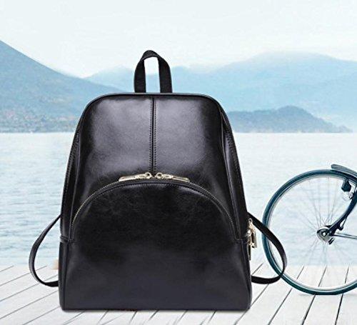 GQQ NUOVE borse a tracolla borse moda PU Dacron per Shopping Party e sul posto di lavoro fino a 8 L GQ borsa @ , black