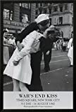 Professionally Framed Victor Jorgensen War's End Kiss VJ Day Art Print Poster - 24x36 with RichAndFramous Black Wood Frame