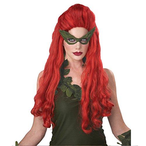 MyPartyShirt - Costume da Poison Ivy, avversaria di Batman, abito sexy da adulto, colore: rosso