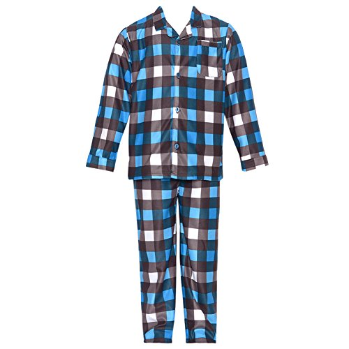 Absorba Baby-Boys Infant Pajama Set, Plaid, 18 Months front-726418