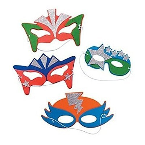 Foam Superhero Masks 6 Count