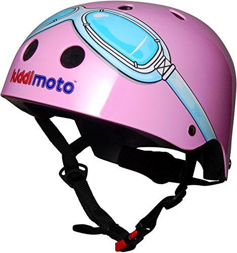 Kiddimoto-Casco-bambini-rosa-medio-53-58cm