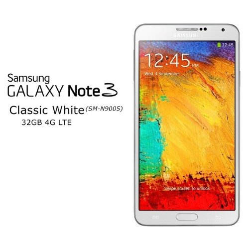 Samsung Galaxy Note 3 N9005 32GB 4G LTE Unlocked GSM Quad-Core Android Smartphone – White