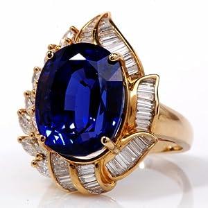 Estate 20.25ct Diamond Tanzanite 18k Gold Cocktail Ring