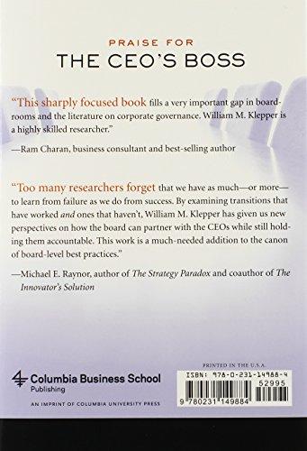 CEO's Boss (Columbia Business School Publishing)