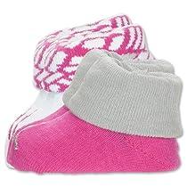 Nike Jordan Baby Booties Newborn Infant Socks Size 0-6 M Great Baby Gift Set Pink White Gray
