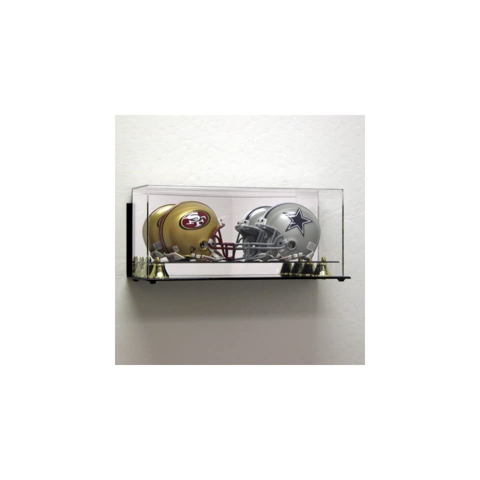 Wall Mount Acrylic Double Mini Helmet Display Case