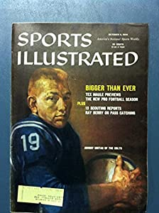 1959 Sports Illustrated October 5 Johnny Unitas (First Cover) Baltimore Colts Very Good to Excellent [Minor warping - contents fine]