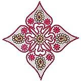 Megha Arts Wooden Rangoli (37 Cm X 37 Cm X 0.5 Cm, Silver )