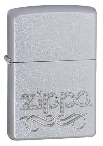 Zippo Scroll Satin Chrome Lighter, Personalized, Free Engraving On Back!