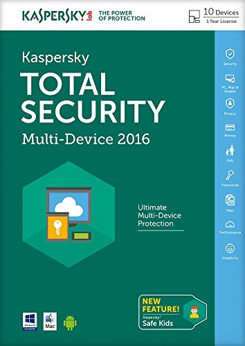 Kaspersky Total Security 2016 Multi Device 10 Device 1 Year FFP (PC DVD/Mac)