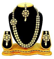 SatyamJewelleryNx Bridal Kundan Necklace Set For Women Fashion Jewellery (Wedding Season)