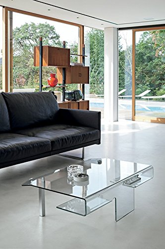 Target, Aries – Coffee Table in Curved Glass Aries