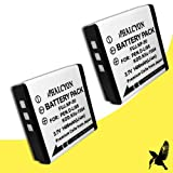Halcyon 1400 mAH Lithium Ion Replacement Battery for Fujifilm FinePix Digital Camera (2 Pack)