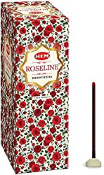 Hem Roseline Dhoop Incense Stick (10.5 cm x 5.2 cm x 5.2 cm, Brown)