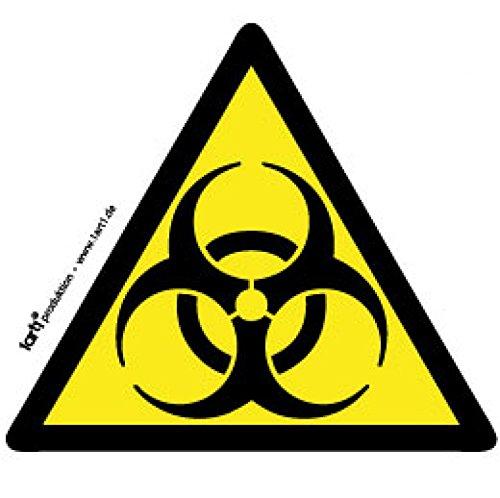 Segnali Di Pericolo - Biorischio, Biohazard Sticker Adesivo (9 x 9cm)