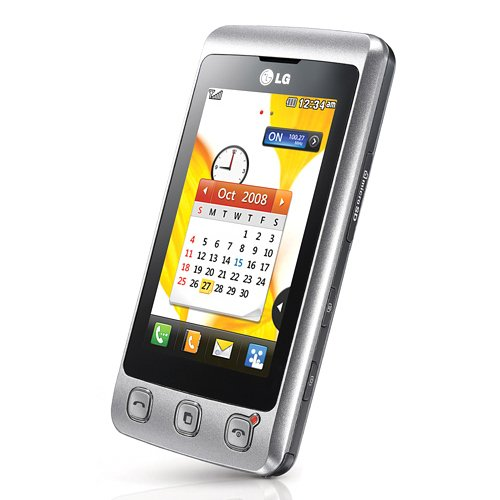 LG KP500 Cookie Smartphone (7.6 cm (3.0 Zoll) TFT-Touchscreen, 3MP Kamera, QWERTZ-Tastatur) silver