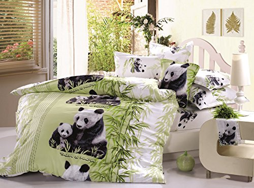 Beddinginn Lovely Mother and Baby Pandas Print 400-thread-count Cotton 4 Pieces 3d Bedding Sets (Extra Long Twin) (Extra Long Queen Comforter compare prices)