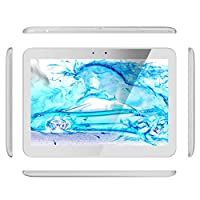 Digital Reins Journey 10.1 Inch Android 4.4 Quad Core Tablet PC High Definition Screen 1280x800 Wifi + Bluetooth + 3G Unlocked Phone/Tablet 1GB 16GB Dual Camera and Dual SIM Cards (White) from Digital Reins