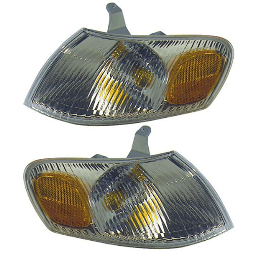 1998-1999-2000 Toyota Corolla Park Corner Light Turn Signal Marker Lamp Pair Set Right Passenger AND Left Driver Side (98 99 00) (Toyota Corolla 99 Right compare prices)