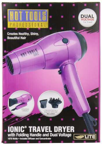 Hot Tools Professional Ht1044 Ionic 1875 Watt Travel Dryer With Folding Handle And Dual Votage front-81744