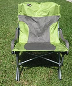Rocky Oversize Folding Arm Chair With Padded Arm Rest And Carry