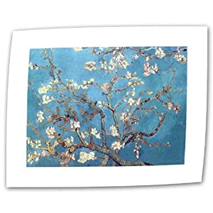 Art Wall Almond Blossom by Vincent van Gogh Rolled Canvas Art, 18 by 24-Inch
